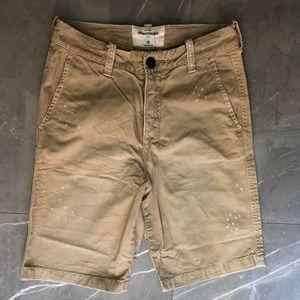 Abercrombie Boy's shorts, paint splatter design